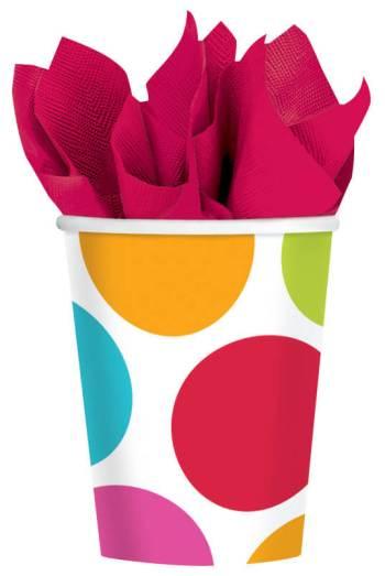 Cabana Dot Cups 9oz - 8CT-0