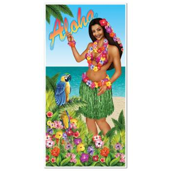 "Luau Door Cover 30"" x 5'-0"