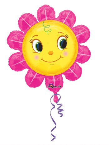 """Smiley Pink Flower Large Balloons 29"""" P30-0"""