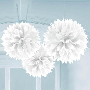 Fluffy Decoration White 3CT-0