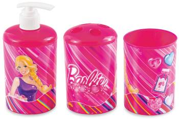 BARBIE 3PC BATHROOM SET-0
