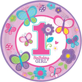Sweet Birthday Girl Paper Plate - 18CT-0