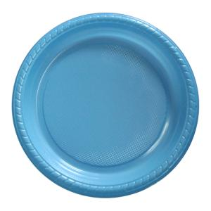 "7"" Premium Plastic Powder Blue Plates - 20CT-0"