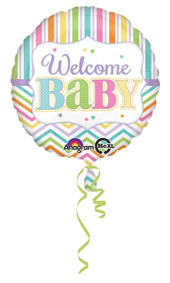 "Baby Bright Balloons 18"" S40-0"