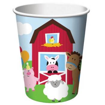 Farmhouse Fun Party 9oz Paper Cups - 8CT-0