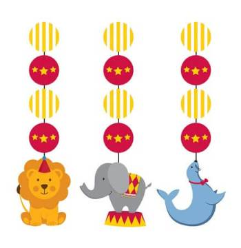 Circus Time Hanging Cutouts - 3CT-0