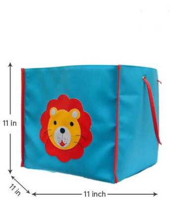 Personalized Storage Bin Without Lid - Lion-0