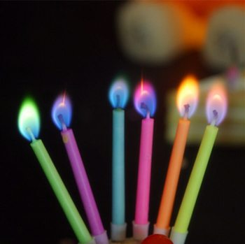 Colored Flames Candle - 5PC-0