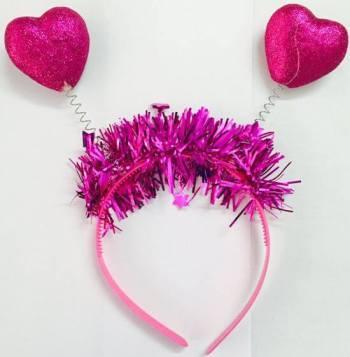 Heart Headband Pink - 1PC-0