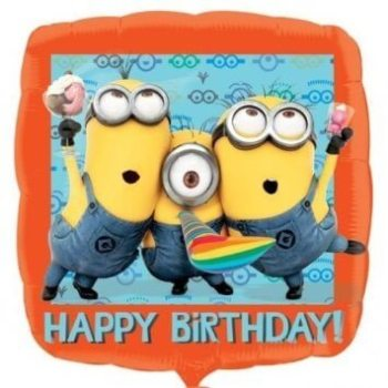 "Happy Birthday Minnions - Despicable Me 18"" Balloon-0"
