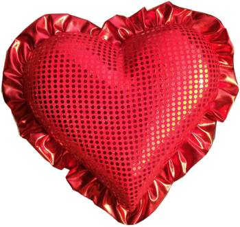 """Sequin Heart with Border Hanging 12""""-0"""