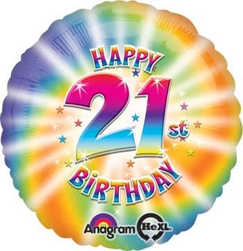 """Happy 21st Birthday 18"""" S40-0"""