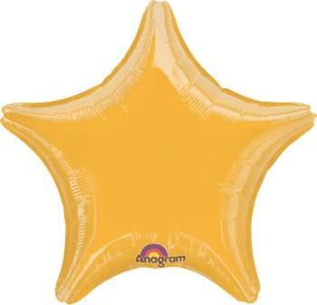 "Metallic Gold Star Balloon 18"" S15-0"