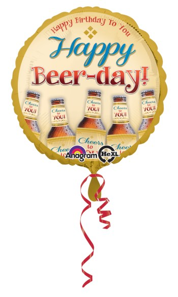 "Happy Beer-Day Balloon 18"" S40-0"