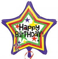 "Happy Birthday Star Balloon 18"" S40-0"
