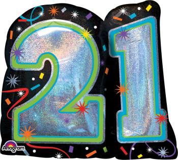 Brilliant 21st Birthday Balloon P40-0