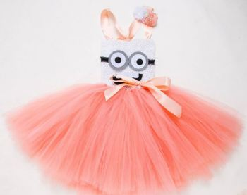 Cute Lil Minions Tutu Dress-0