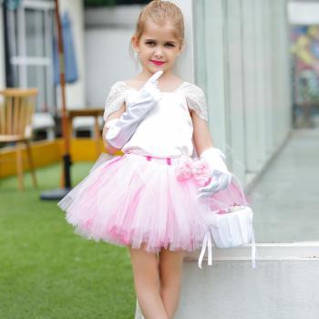 White and Pink Tutu Dress-0