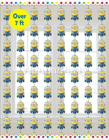 Minions String Decoration 7FT - 6PC-0