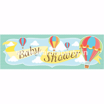 "Up, Up & Away Baby Shower Giant Banner 20"" x 60""-0"