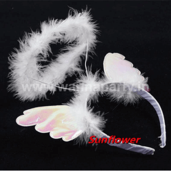 Angel Halo Headband w/Wings-0