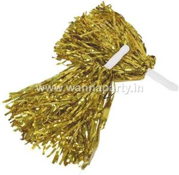 Cheerleader Pom Poms - Gold-0