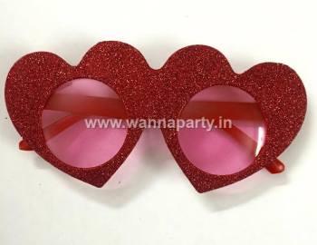 Double Heart Glitter Shades-0