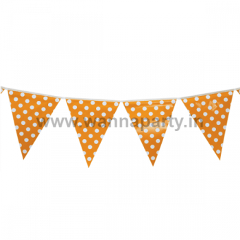 Polka Dot Buntings ORANGE - Over 9 FT -0