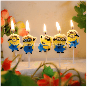 Minions Candle - 5PC-0