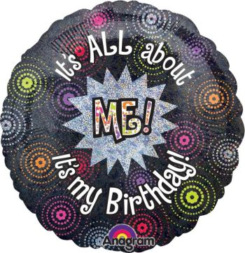 "It's All About Me Birthday Balloon 18"" S55-0"