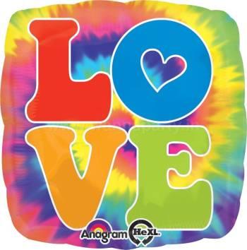 "LOVE Feeling Groovy Balloon 18"" S40-0"
