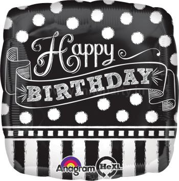 "Happy Birthday Chalkboard Balloon 18""-0"