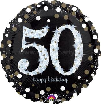 "50th Birthday Balloons 18"" S55-0"