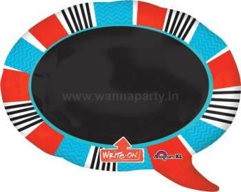 "Red & Blue Black Board Personalzied Balloon 28"" P50-0"