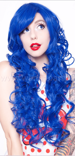 Curly Wig Long - BLU-0