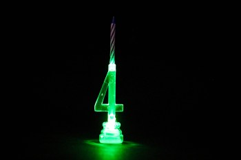 LED Numerical Candle 4-0