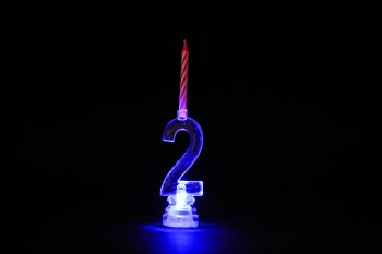 LED Numerical Candle 2-0
