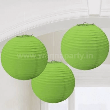 "Green Small Lanterns Small 9"" - 1PC-0"