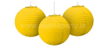 "Yellow Lanterns Small 9"" - 1PC-0"