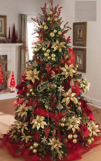 Pine Ornamental Christmas Tree Gold - 6FT-0