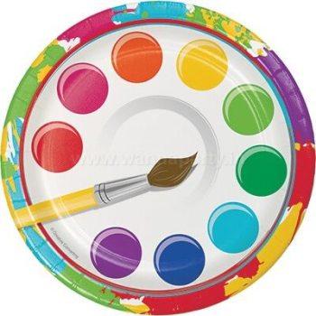 """Art Attack Desser Plates 7"""" - 8PC-0"""