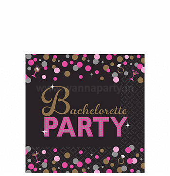 Bachelorette Night Beverage Napkins - 16PC-0