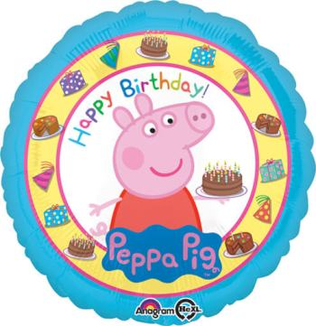 "Peppa Pig Birthday Balloon 18""-0"
