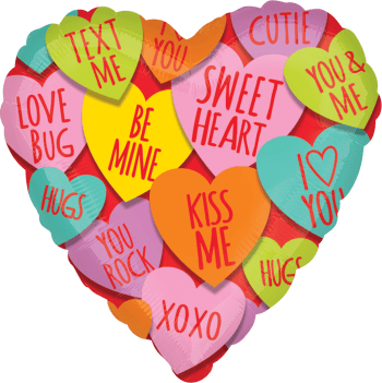 """Hearts with Messages 18"""" Balloon S40-0"""