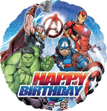 "Avengers Happy Birthday Balloon 18""-0"