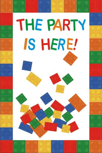 Party Is Here Lego Flex Banner 4FT X 2FT -0