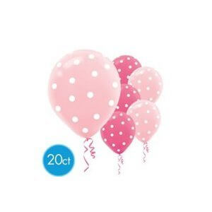 Pink Polka Dot Balloons - 20CT-0