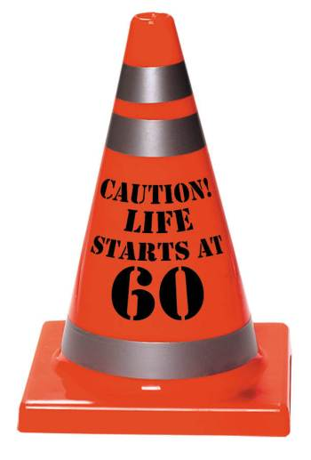 60th Birthday Plastic Cone-0