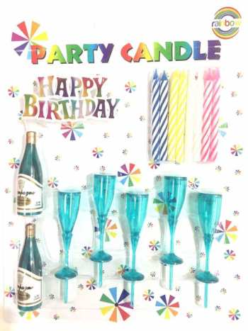 Champagne Glass Candles - 8 PC-0