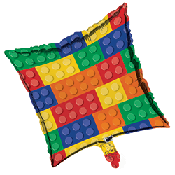 "Lego Block Party Foil Balloon 18""-0"